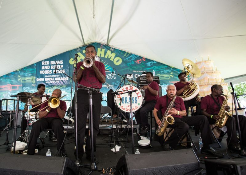 PresHall Brass, Satchmo Summerfest, New Orleans, 2015. Photo courtesy of French Quarter Festivals, Inc.