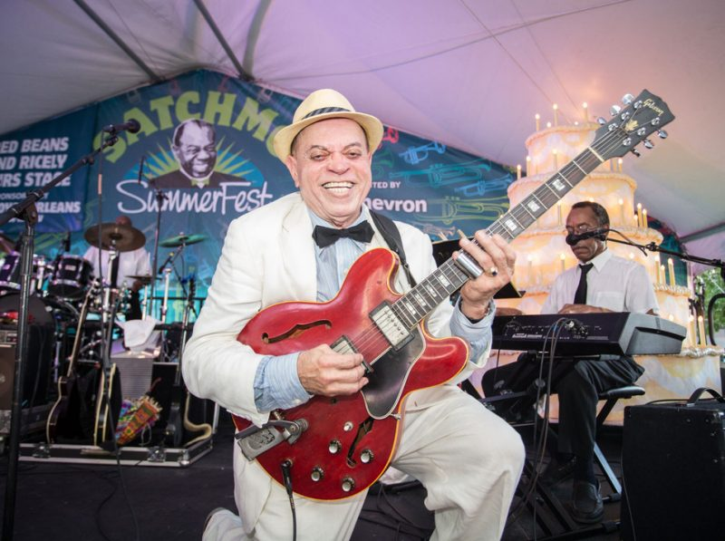 Deacon John, Satchmo Summerfest, New Orleans, 2015. Photo courtesy of French Quarter Festivals, Inc.
