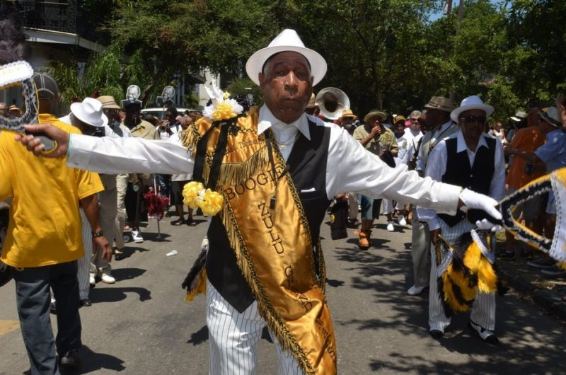 Zulu Grand Marshal, Satchmo Summerfest, New Orleans, 2015. Photo courtesy of French Quarter Festivals, Inc.