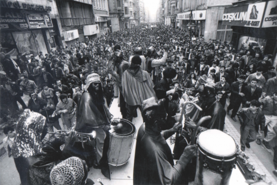 The Sun Ra Arkestra performing in the streets of Istanbul in 1990 image 0