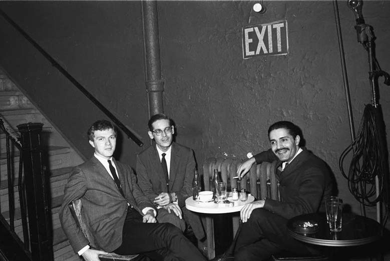 Bill Evans Trio, l. to r.: Scott LaFaro, Evans, Paul Motian, Village Vanguard 1961