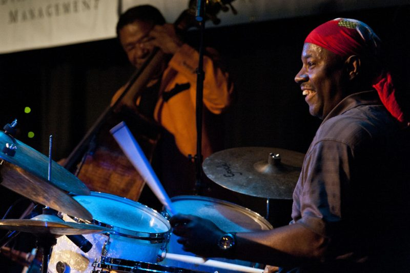 Buster WIlliams (l.) and Lenny White, Hudson Valley Jazz Festival 2015
