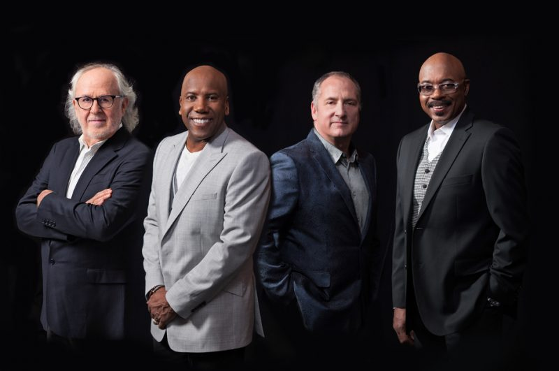 Fourplay (l. to. r.): Bob James, Nathan East, Chuck Loeb, Harvey Mason