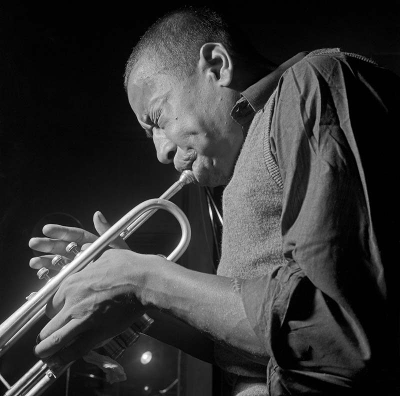 Lee Morgan in 1963 (photo by Francis Wolff/Mosaic Images)