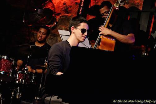 Justin Kauflin Trio, Barcelona, October 2015: Kauflin on piano, Chris Smith on bass, Billy Williams on drums