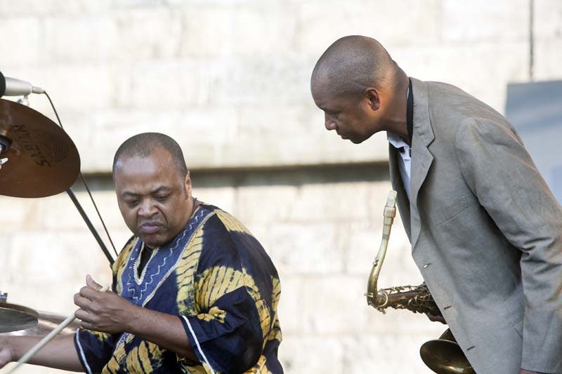 "Jeff ""Tain"" Wats (left) and Branford Marsalis, Newport Jazz Festival 2007"