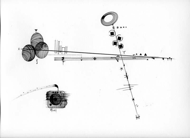 Billy Martin's graphic score for a piece performed by Annie Gosfield