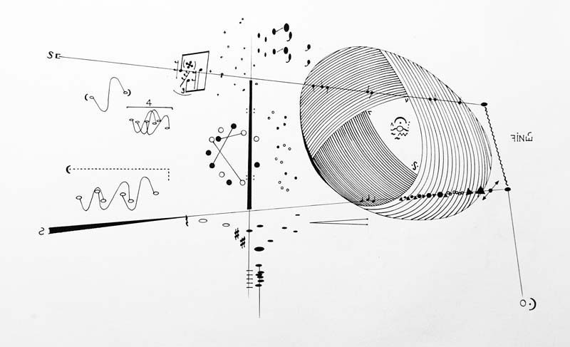 Billy Martin's graphic score for a piece performed by Anthony Coleman