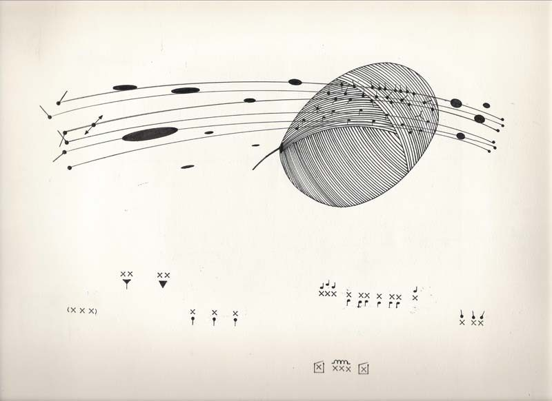 Billy Martin's graphic score for a piece performed by Bill Frisell