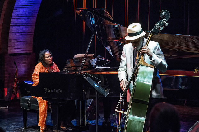 Geri Allen (l.) and Henry Grimes perform at Cecil Taylor- From The Five Spot To The World, Harlem Stage, Nov. 2015