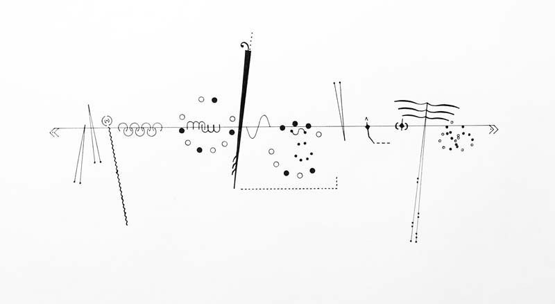Billy Martin's graphic score for a piece performed by John Zorn