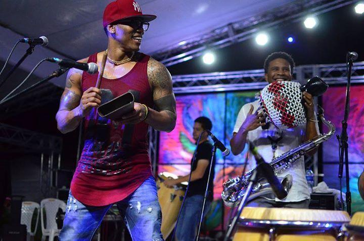 Pedrito Martinez (l.) and David Sánchez (r.), Dominican Republic Jazz Festival Nov. 2015