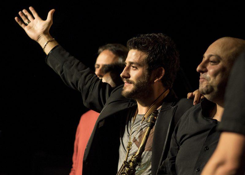 Mauro Schiavone, Humberto Amésquita (obscured), Francesco Cafiso, Giovanni Amato, Belgrade Jazz Festival 2015