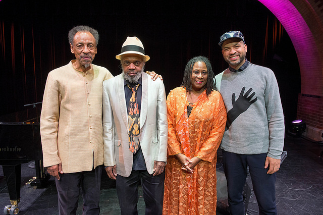 Henry Threadgill, Henry Grimes, Geri Allen and Jason Moran (l. to r.) at Cecil Taylor- From The Five Spot To The World, Harlem Stage, Nov. 2015