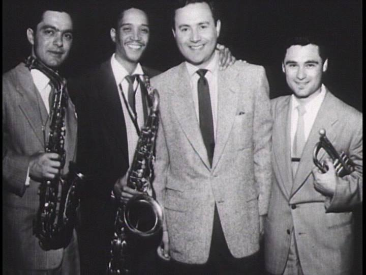 Art Pepper, Wardell Gray, Gene Norman and Shorty Rogers in the early '50s