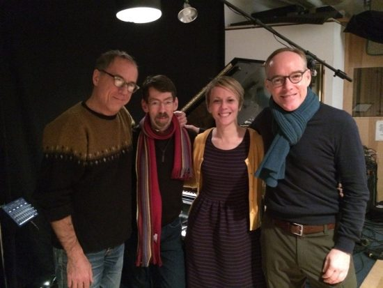 David Hajdu, Fred Hersch, Jo Lawry and Michael Winther (from left) in the studio image 0