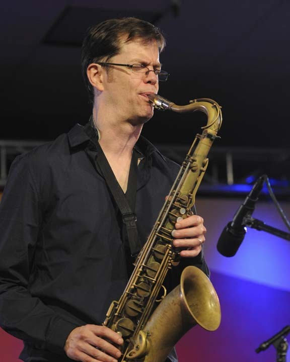 Donny McCaslin in performance at 2011 Monterey Jazz Festival (photo by Stuart Brinin)