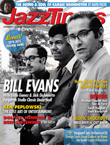 May 2016 JazzTimes cover, featuring the Bill Evans Trio with Eddie Gomez and Jack DeJohnette