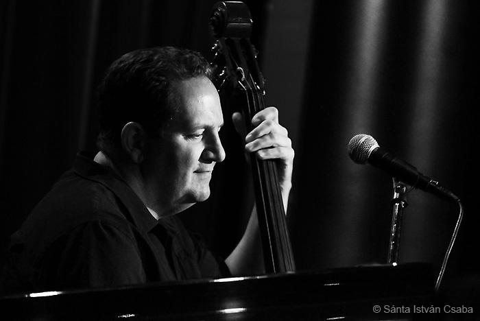 Bassist John Belzaguy, with the Arturo Sandoval band, Blue Note Milano, Italy, March 2016