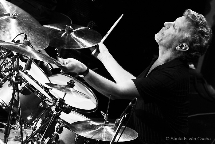 Johnny Friday, drummer with Arturo Sandoval, Blue Note Milano, Italy, March 2016