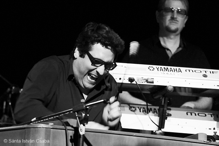 Marius Preda, cimbalon player with Arturo Sandoval, Blue Note Milano, Italy, March 2016
