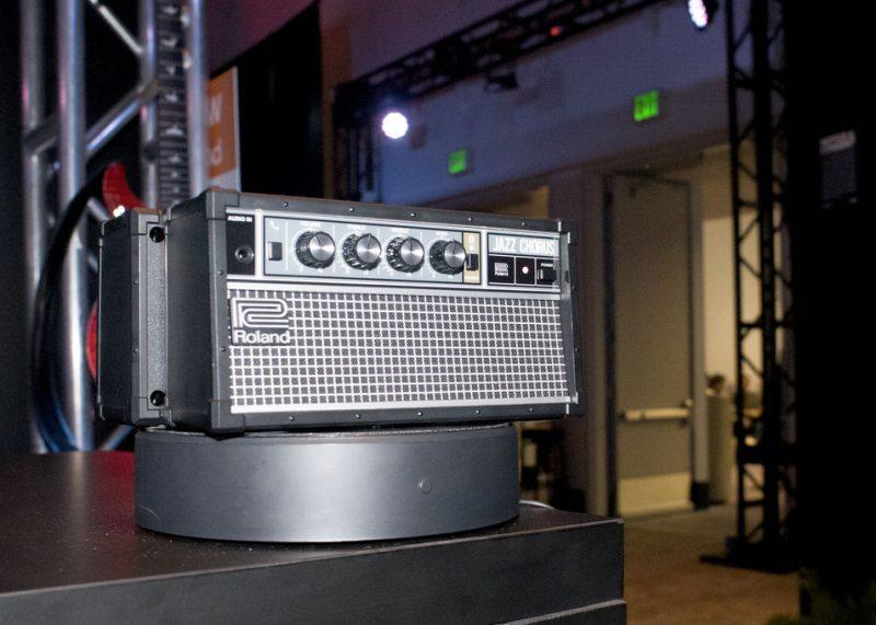 Roland JC-01 Bluetooth Audio Speaker, on display at NAMM 2016