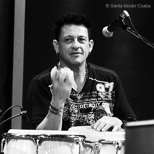 Tiki Pasillas, percussionist with Arturo Sandoval, Blue Note Milano, Italy, March 2016