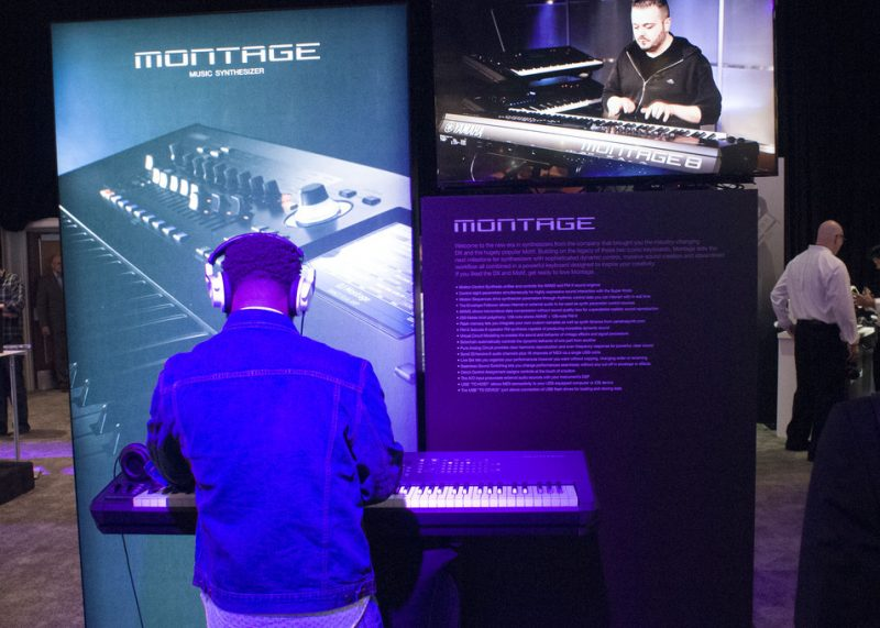 Yamaha Montage synthesizer, on display at NAMM 2016