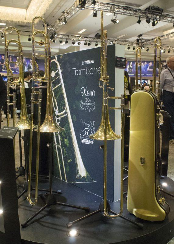 YSL-8820-20th Anniversary Xeno trombone (at right)