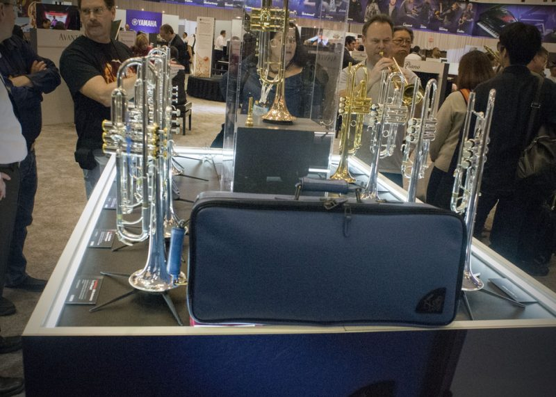 YTR-8335RS 25th Anniversary Xeno trumpet (at left)