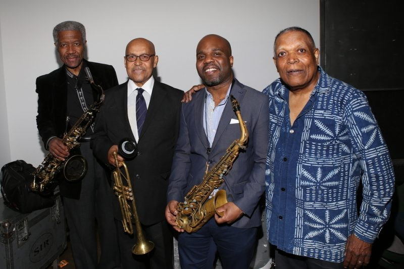 The Cookers' Billy Harper, Eddie Henderson, Jaleel Shaw and Billy Hart (from left) at the 2016 Jazz Foundation of America Loft Party in New York