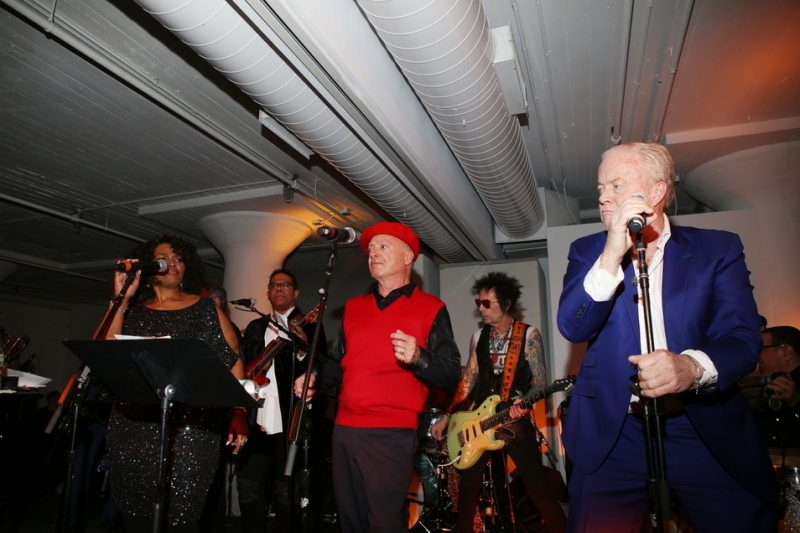 David Bowie's sidemen pay tribute to the late legend at the 2016 Jazz Foundation of America Loft Party in New York