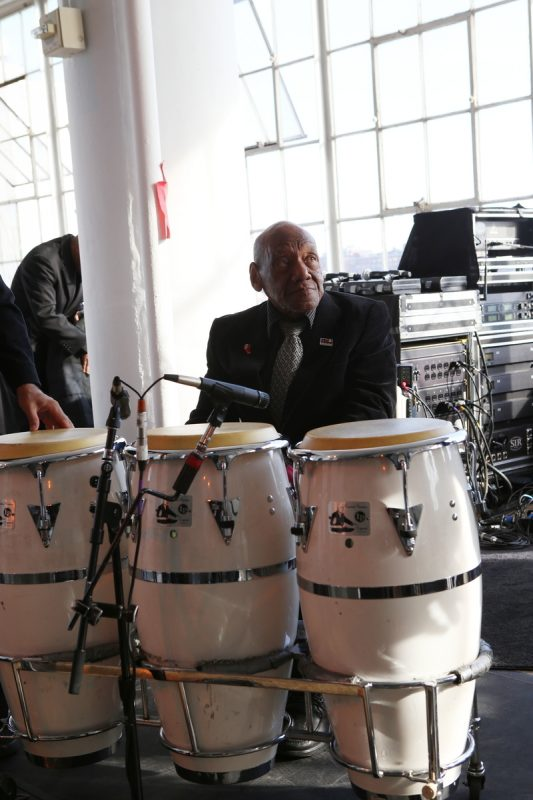Candido Camero at the 2016 Jazz Foundation of America Loft Party in New York