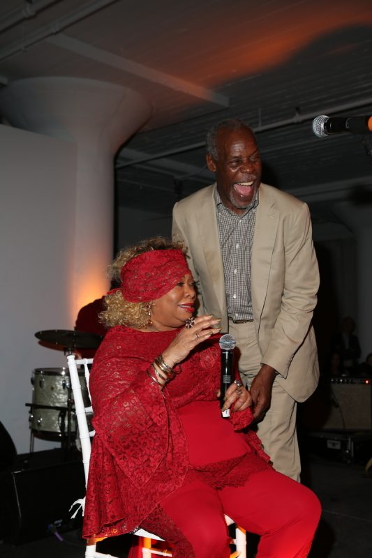 Sweet Georgia Brown and Danny Glover at the 2016 Jazz Foundation of America Loft Party in New York