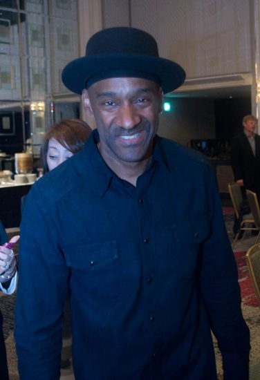 Marcus Miller at the pre-concert dinner prior to International Jazz Day events in Osaka, Japan, 4-14 image 1