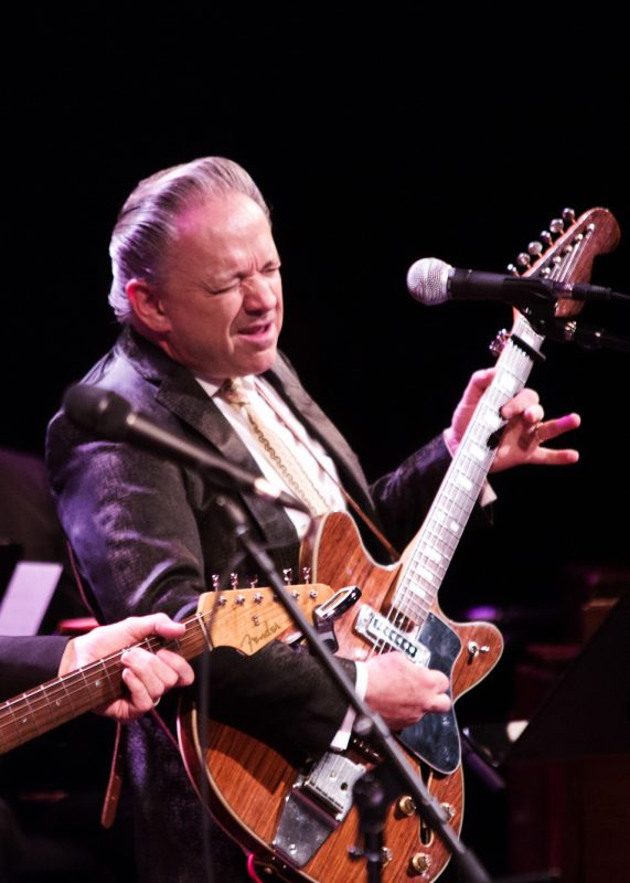 "Jimmie Vaughan performs in Miller's ""Out of This World"" program at Jazz at Lincoln Center, April 2016"
