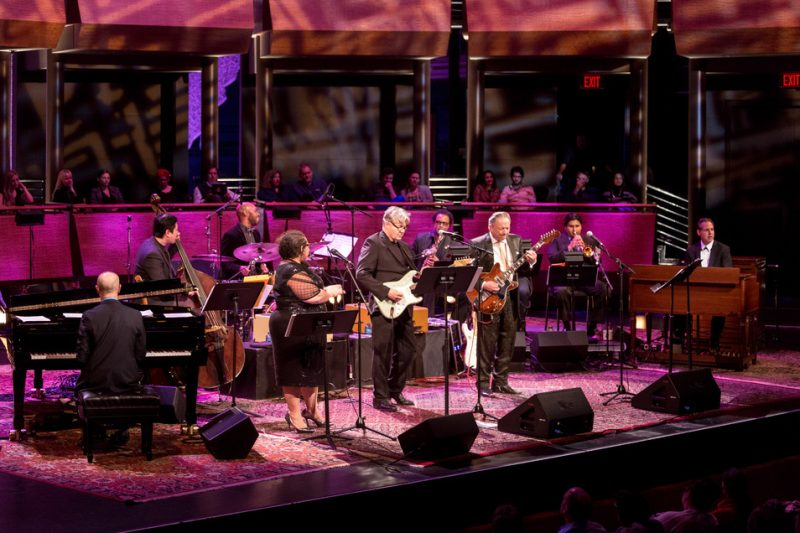 "Steve Miller, Jimmie Vaughan and friends perform in Miller's ""Out of This World"" program at Jazz at Lincoln Center, April 2016"