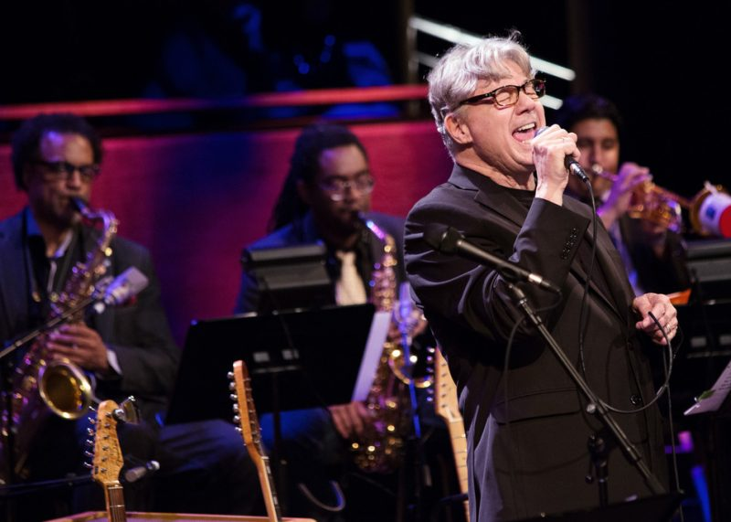 Steve Miller at Jazz at Lincoln Center in April 2016, backed by the horns of Craig Handy, Patrick Bartley and Mike Rodriguez (from left)