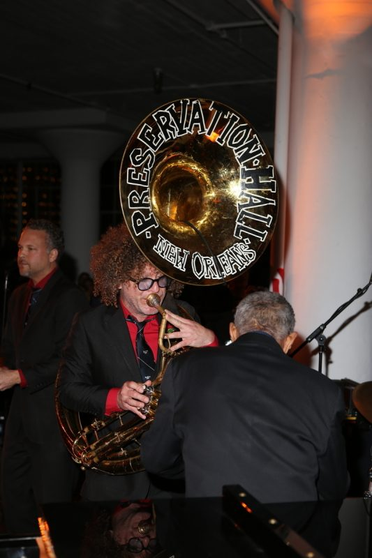 The Preservation Hall Jazz Band's Ben Jaffe at the 2016 Jazz Foundation of America Loft Party in New York