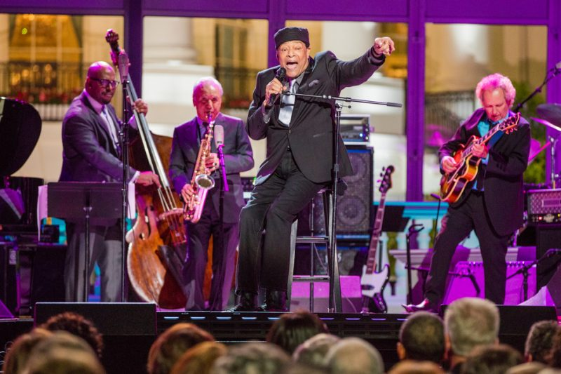 Christian McBride, Sadao Watanabe, Al Jarreau and Lee Ritenour (from left) perform in the International Jazz Day Global Concert at the White House; April 29, 2016