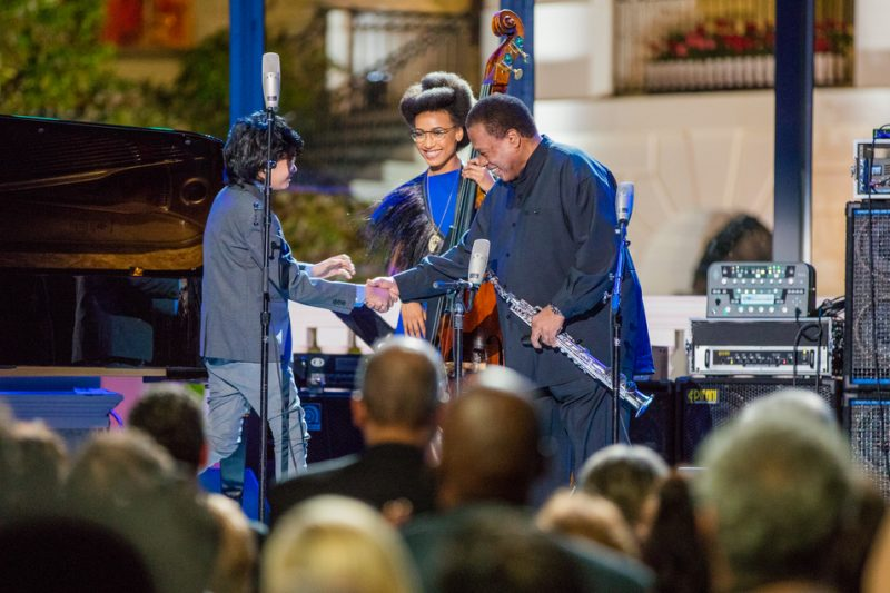 Joey Alexander, Esperanza Spalding and Wayne Shorter (from left) take part in the International Jazz Day Global Concert at the White House; April 29, 2016