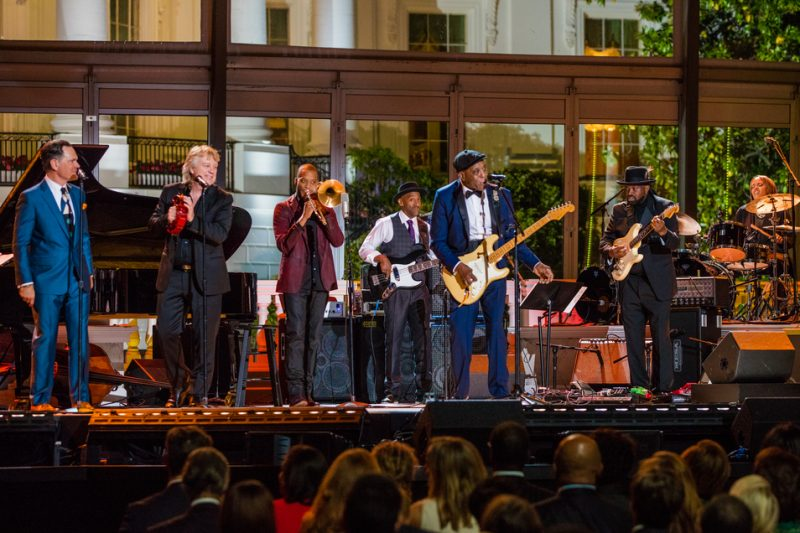 Buddy Guy performs in the International Jazz Day Global Concert at the White House; April 29, 2016