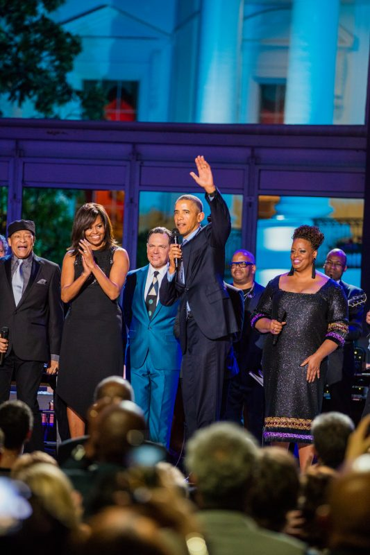President Obama closes the International Jazz Day Global Concert at the White House; April 29, 2016