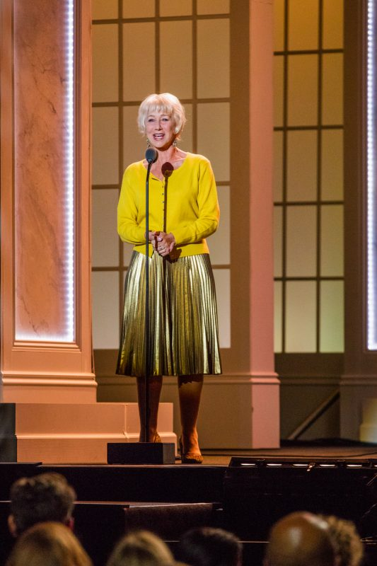 Helen Mirren introduces Sting at the International Jazz Day Global Concert at the White House; April 29, 2016
