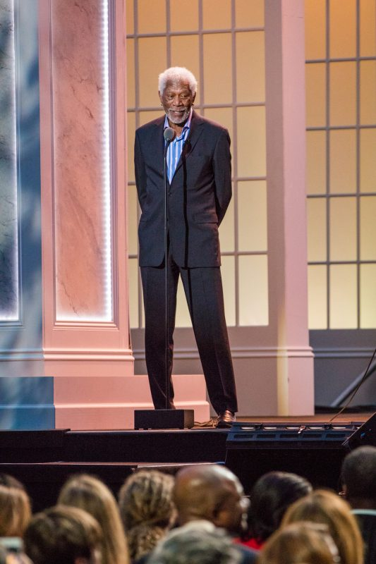 Morgan Freeman emcees the International Jazz Day Global Concert at the White House; April 29, 2016