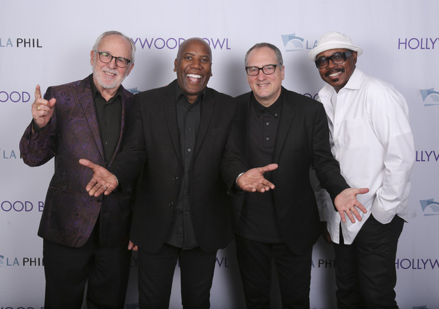 Fourplay: Pianist Bob James, bassist Nathan East, guitarist Chuck Loeb and drummer Harvey Mason (from left)