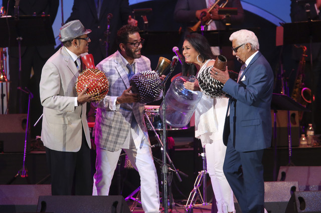 The Escovedo family: Juan, Peter Michael, Sheila E. and father Pete (from left)
