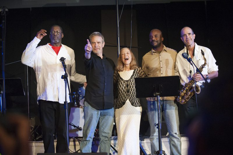 The Steve Swell Quintet (Larry Roland, Swell, Connie Crothers, Chad Taylor and Rob Brown, from left) at Vision Festival 21; New York's Judson Memorial Church, June 9, 2016