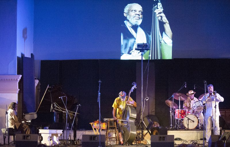 The Henry Grimes Quartet (Geri Allen, Grimes, Andrew Cyrille and Graham Haynes, from left) at Vision Festival 21; New York's Judson Memorial Church, June 7, 2016