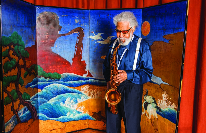 Sonny Rollins at home in upstate New York, December 2015 (photo: Yuki Tei)